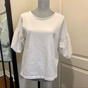 H&M balloon sleeve sweater white
